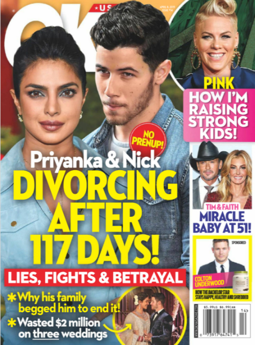 Nick Jonas y Priyanka Chopra se divorcian! (OK!)