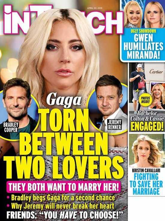 Lady Gaga entre dos amores: Bradley Cooper y Jeremy Renner