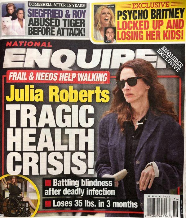 Julia Roberts se queda ciega en medio de crisis de salud?