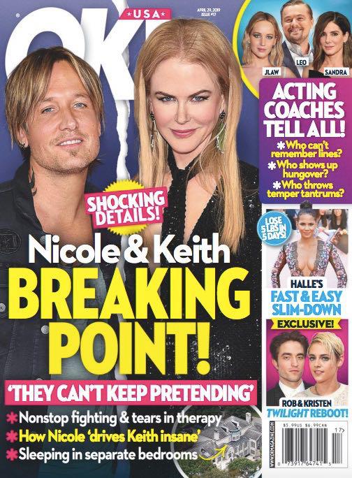 Nicole Kidman y Keith Urban fingiendo un matrimonio feliz (Ok!)