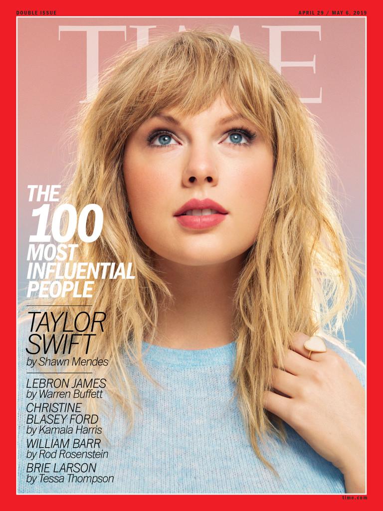 Taylor Swift portada Time, las 100 personas más influyentes.