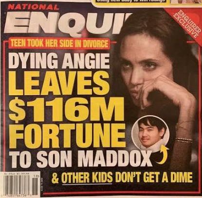 Angelina Jolie deja su fortuna de $116 millones a Maddox