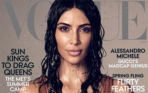 Kim Kardashian posa para Vogue, estudiando leyes! HA!