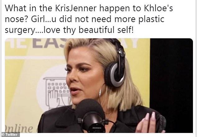 Khloe Kardashian dice que su nariz se ve torcida por el contour