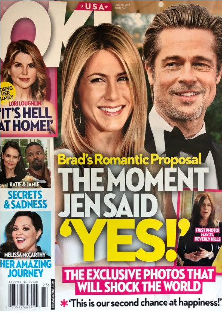 Brad Pitt proposed to Jen Aniston! YES!