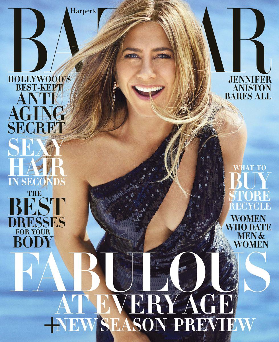 Jennifer Aniston topless para Harper's Bazaar