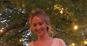 Jennifer Lawrence en su fiesta de compromiso