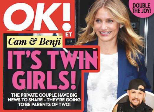Cameron Diaz y Benji Madden esperando gemelas?