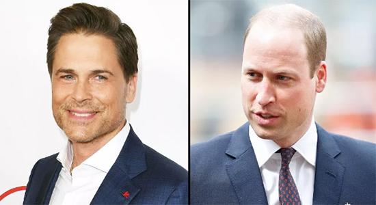 Rob Lowe mocks Prince William's baldness