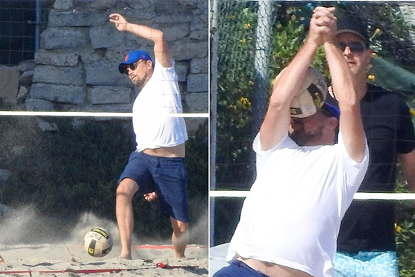 Leonardo DiCaprio hit in the face playing volleyball - memes