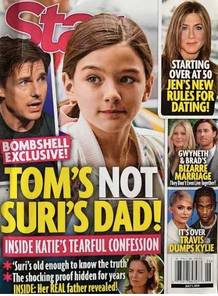 Tom Cruise is not Suri's father! The confession of Katie!