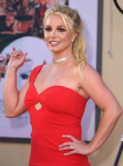Britney Spears en la premier de Once Upon a Time in Hollywood