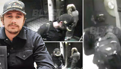 James Franco with Amber Heard after the fight with Johnny Depp