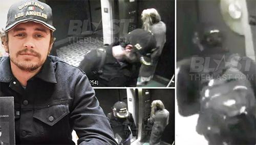James Franco con Amber Heard después de la pelea con Johnny Depp