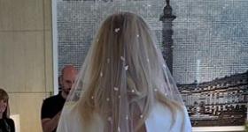 Sophie Turner revela su vestido de novia