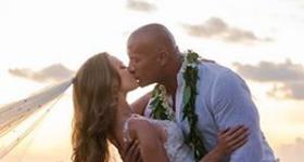 Dwayne La Roca Johnson se casó con Lauren Hashian en Hawaii
