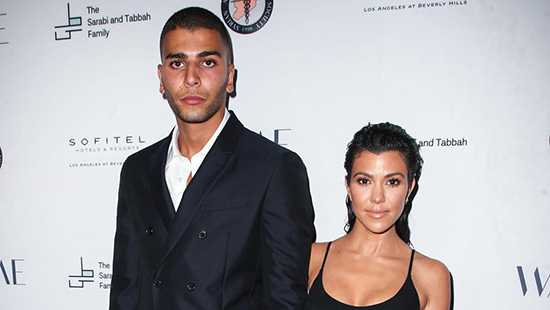 Kourtney Kardashian y Younes Bendjima de la mano!