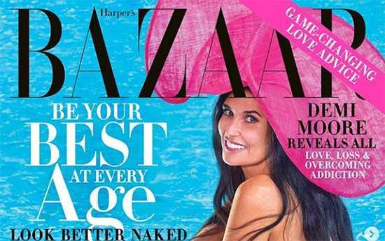 Demi Moore revela todo a Harper's Bazaar