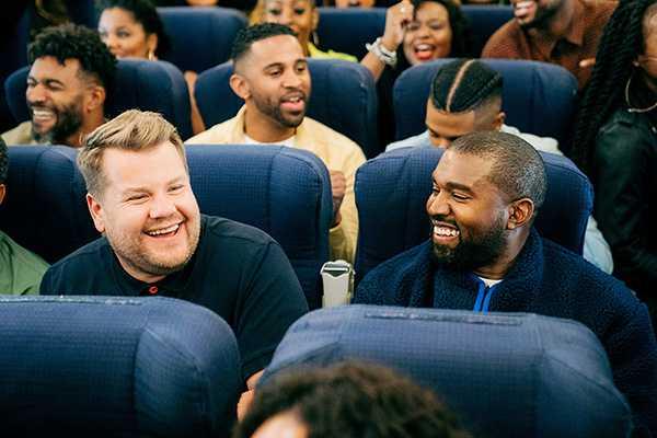 Kanye West airpool karaoke matrimonio e hijos