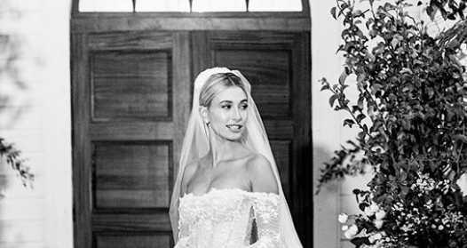 Hailey Baldwin mostró su hermoso vestido de novia