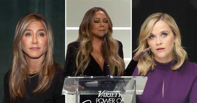 Mariah Carey confunde a Jennifer Aniston con Reese Witherspoon
