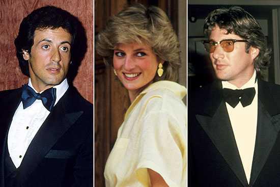 Richard Gere y Sylvester Stallone pelearon por Diana