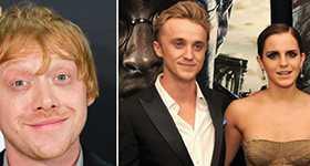 Rupert Grint vio chispas entre Emma Watson y Tom Felton
