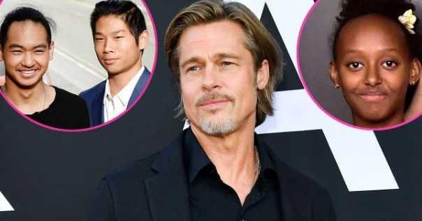 Brad Pitt pasará navidad con sus hijos pequeños
