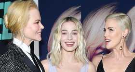 Nicole, Margot y Charlize Red carpet de Bombshell (El Escándalo)
