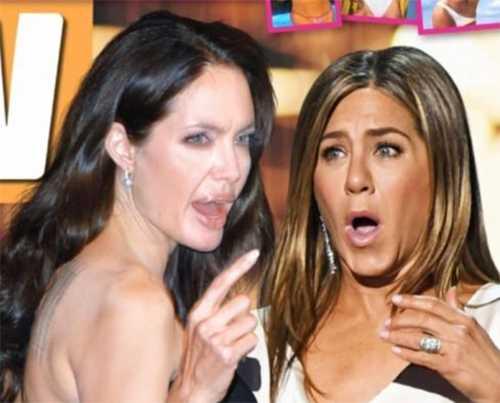 Angelina le dice a Jen que Brad la engaña