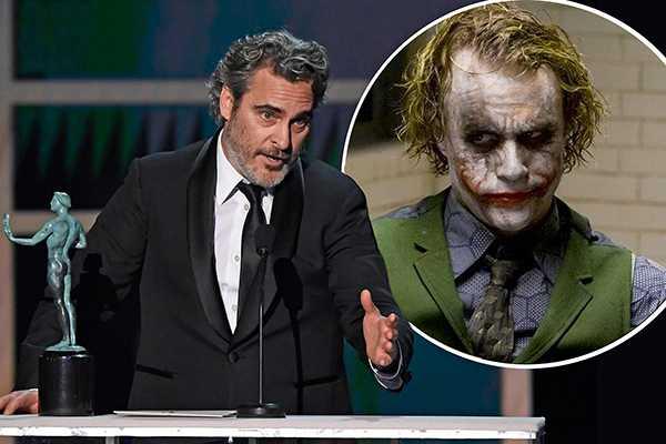 Joaquin Phoenix recordó a Heath Ledger en los SAG Awards