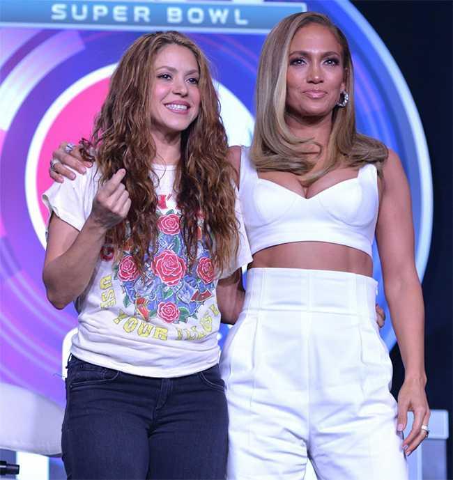 Shakira y JLo rueda de prensa Super Bowl 2020, JLo mejor que Shakira?