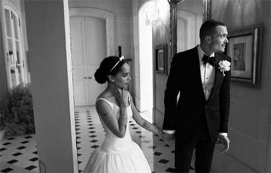Zoe Kravitz reveló fotos de su boda con Karl Glusman
