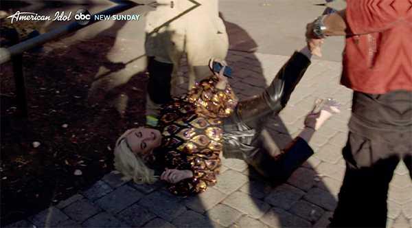 Katy Perry colapsó en el set American Idol