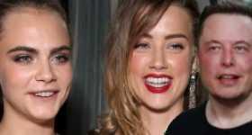 Amber Heard Cara Delevingne y Elon Musk tuvieron un trio