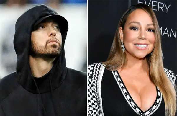 Eminem estresado por memorias de Mariah Carey