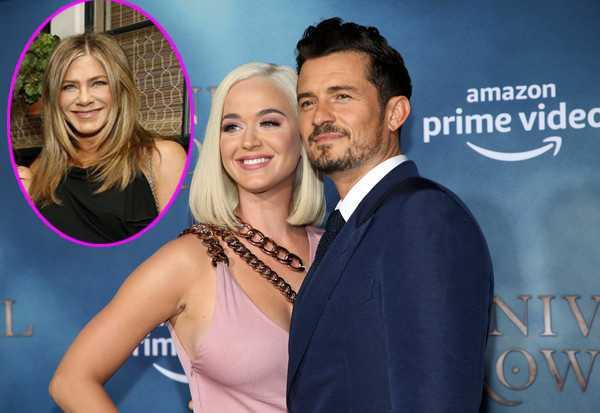 Katy Perry y Orlando quieren a Jennifer Aniston de madrina de su baby