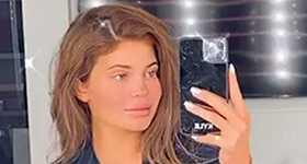 Kylie Jenner publicó foto antes y después del maquillaje LOL!