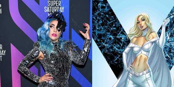 Lady Gaga para el papel de Emma Frost?