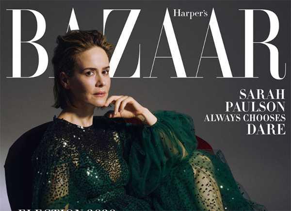 Sarah Paulson en Harper's Bazaar habla de la diferencia de edad con Holland Taylor
