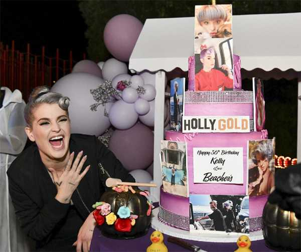 Kelly Osbourne celebró sus 36 super flaca