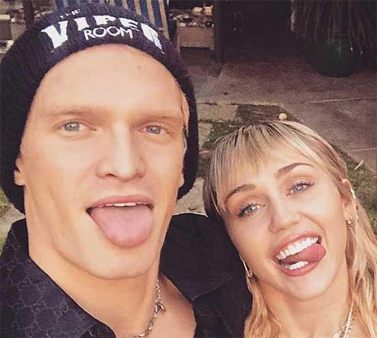 Cody Simpson no sigue a Miley Cyrus en Instagram
