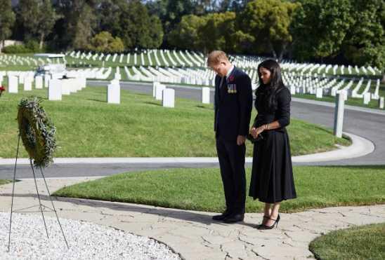 Harry y Meghan en el Dia del Recuerdo en LA