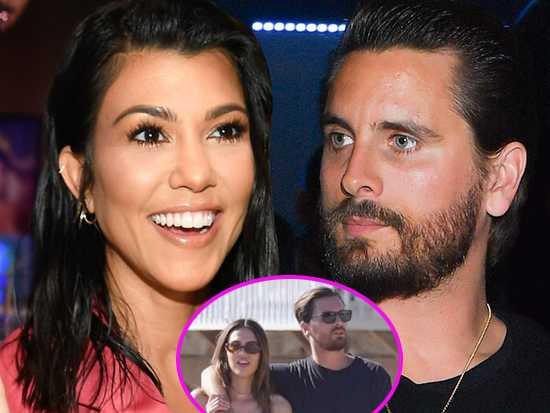 Kourtney Kardashian feliz de que Scott sale con Amelia