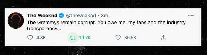 The Weeknd no fue nominado a los Grammys por el Super Bowl