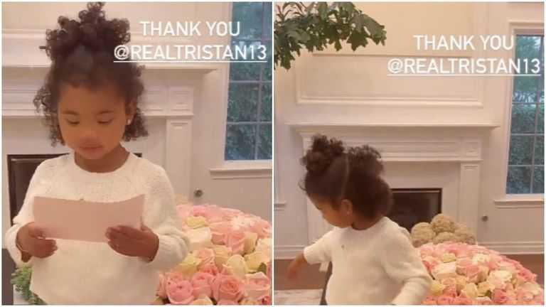 Khloe Kardashian recibió flores de Tristan