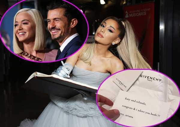Ariana Grande envió regalo a la hija de Katy Perry