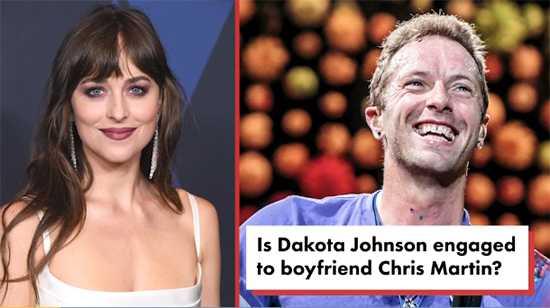 Dakota Johnson comprometida con Chris Martin