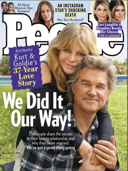 Kurt Russell y Goldie Hawn en la portada de People