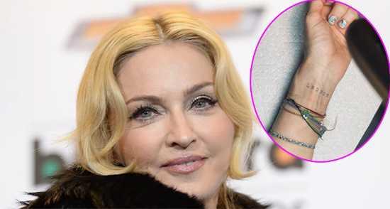 Madonna se tatuó por primera vez